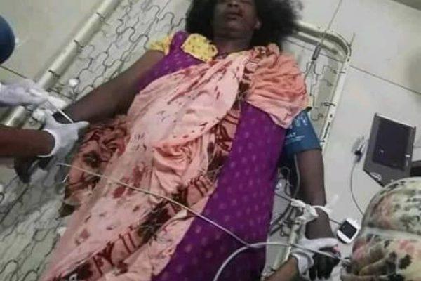 En dræbt kvinde. Dødstallene anslås til at ligge mellem 30-100 civile. Foto: STC