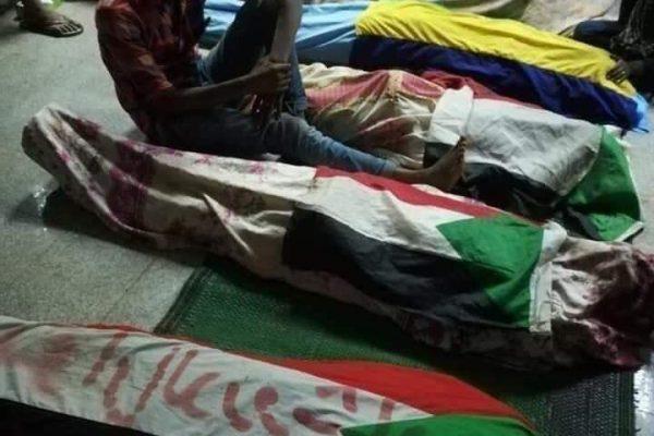 Døde civile i Khartoum. Foto: STC /FB