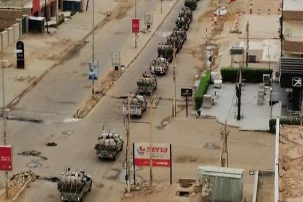 Rapid Forces – tidligere kendt som Janjaweed-militiaen – rykker ind i Khartoum. Foto: STC /FB