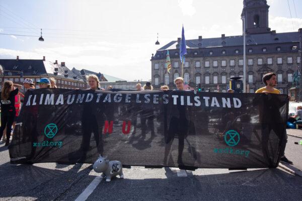 Budskabet var til at forstå: vi står i en klimaundtagelsestilstand. Foto: Christine Vassaux Noe