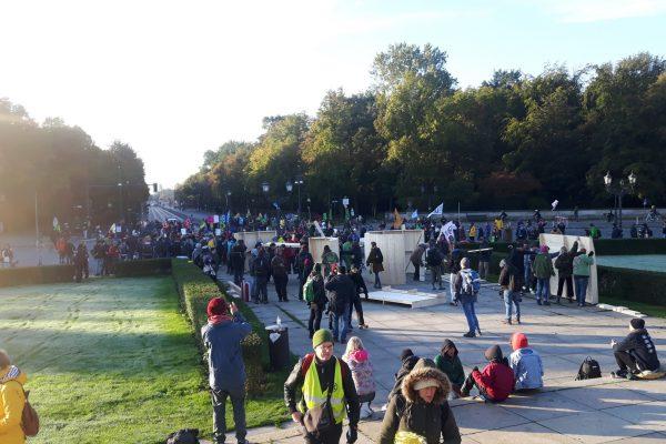 Extinction Rebellion i Berlin under Global Justice Rebellion. Foto: Ulrik Myrtue