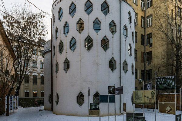 'Melnikov Huset' (1927) i Moskva, der er på UNESCO's liste over truede bygninger.