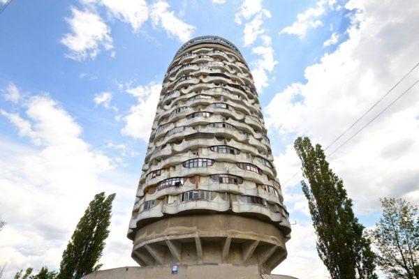 Romashka Tower – 'Majsøret' – i Chisniau, Moldova. Opført 1978.