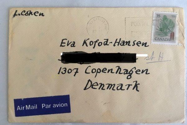 Kuvert og Valentinkort fra Cohen til Eva Kofod-Hansen