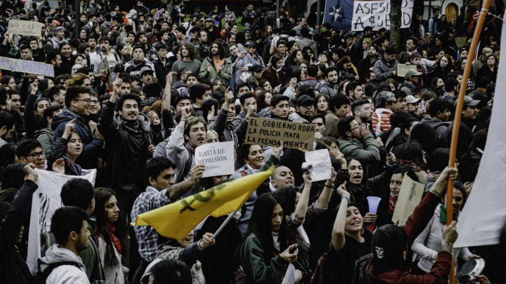 Demonstration i Chile 2019